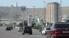 Petrol station in Baku, Azerbaijan Stock Footage