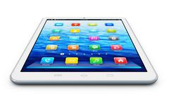 White tablet computer Stock Illustration