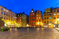 Stortorget in the Old Town of Stockholm, Sweden Stock Photos