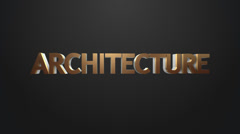 Architecture icon. Stock Footage