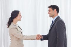 Stock Photo of Future partners shaking hands