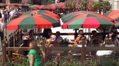 Tourism on the Grand place Brussels - stock footage