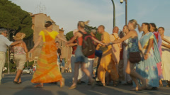 Hare Krishna in Rome 10 (slomo) Stock Footage