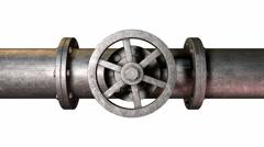 Shutoff valve turn Stock Footage