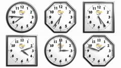 Clock Pack 1 - 6 Different 3D Clock Stock After Effects