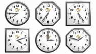 Stock After Effects of Clock Pack 1 - 6 Different 3D Clock