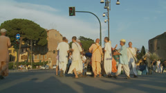 Hare Krishna in Rome 12 (slomo) Stock Footage