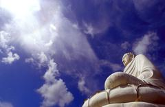 Buddha in heaven vietnam - stock photo