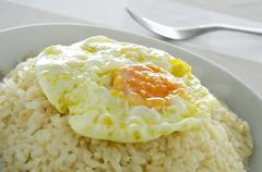 Stock Photo of spanish arroz a la cubana, a typical rice dish in spain