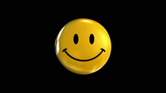 Static yellow Smiley Stock Footage