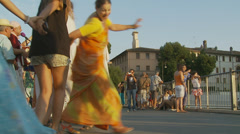 Hare Krishna in Rome 8 (slomo) Stock Footage