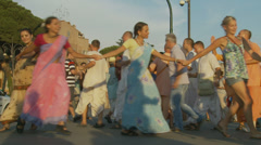 Hare Krishna in Rome 11 (slomo) Stock Footage