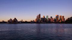 City Skyline with Sydney Opera House 230GYCC NTSC Stock Footage