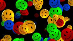 A lot of colorful smiley Stock Footage