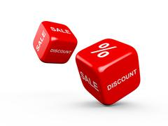 discount and sale - stock illustration