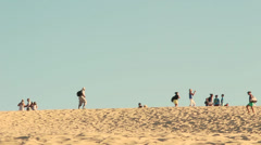 Famous Dune of Pilat with tourists, France - 1080p Stock Footage
