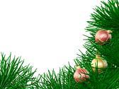 Stock Illustration of christmas border and xmas ornaments
