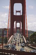 Traffic on the Golden Gate Bridge San Francisco California USA Stock Photos