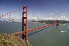 Panorama of Golden Gate Bridge San Francisco California USA Stock Photos