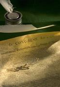 Declartation of Independence of the United States Stock Photos