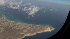 Aerial Northwest Aruba Stock Footage