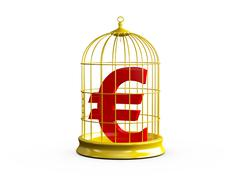 Bird cage and euro sign Stock Illustration