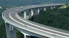Vehicles on the highway Stock Footage