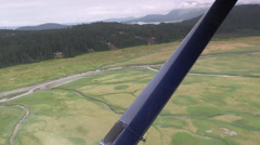Estuary next to juneau airport Stock Footage