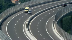 Vehicles on the highway. Stock Footage