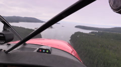 Float plane close to landing Stock Footage