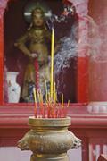 Incense burning in the Ngoc Hoang Pagoda Ho Chi Minh City Vietnam Stock Photos