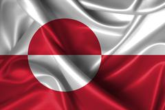 Stock Illustration of wavy flag of greenland