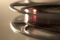 Closeup of edge of film reel Stock Photos