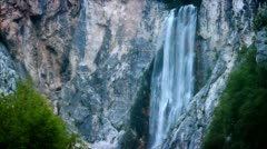 Closeup of waterfall Stock Footage
