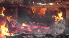 Amid the Force of Nature - House Fire Burns Home to the Ground Stock Footage