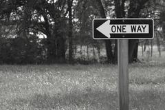 One way street sign Stock Photos