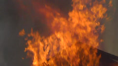 Amid the Force of Nature - Blazing Out of Control Housefire - stock footage