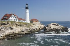 Portland Head Lighthouse Cape Elizabeth Maine - stock photo