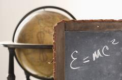 Still life of Einstein's law of relativity Stock Photos