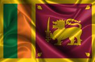 Stock Illustration of wavy flag of sri lanka
