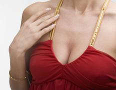 Close up of female chest Stock Photos