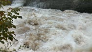 Stock Video Footage of View of increased wild river