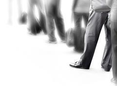 people in queue - stock photo