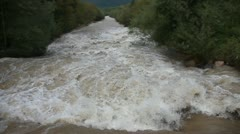 View of a river during the storm Stock Footage