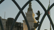 Stock Video Footage of Angel statue at Vittorio Emanuele II in Roma (slomo dolly)