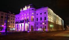 slovak national theatre - bratislava - stock photo