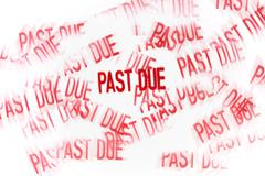 Studio shot of Past Due stamp - stock illustration