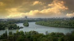Belgrade from distance Stock Footage