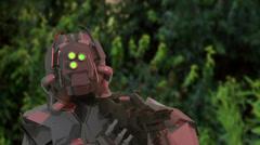 Cyborg super soldier  robot alien Stock Footage
