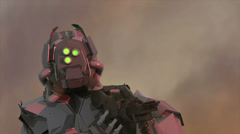 Cyborg super soldier  robot alien 2 Stock Footage